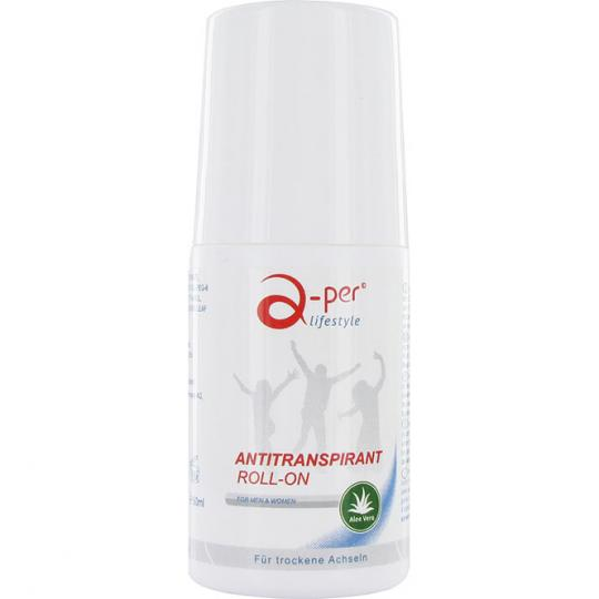 Antiperspirant deodorant by a-per © against underarm perspiration without alcohol or fragrances lasting for several months