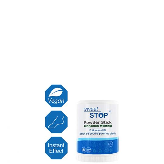 SweatStop® Powder Stick Cinnamon Menthol - Foot Powder Stick with Cinnamon and Menthol against Foot Perspiration and unpleasant Odors