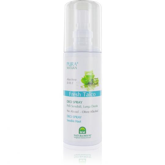 Fresh Talco Deodorant Spray by Pura Natura® Against Odor Natural Basis