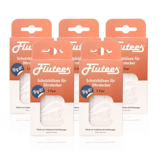 Flutees® Protective sleeves for ear plugs against inflammation 25 pair