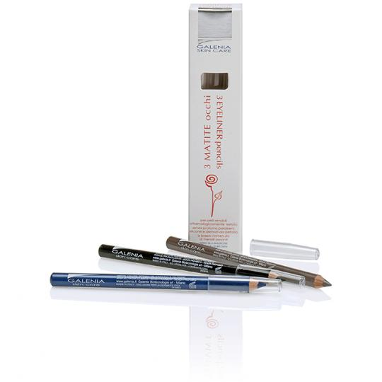 Eyeliner 3 pcs by Galenia Skin Care® with hypoallergenic pen tip