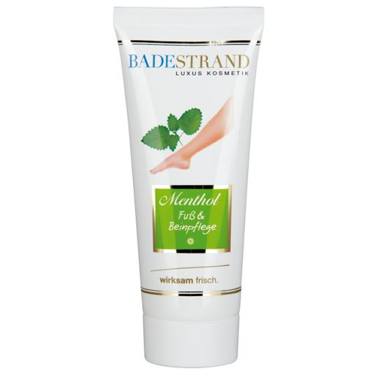 Menthol foot and leg care by Badestand refreshing and cooling on tired feet and legs