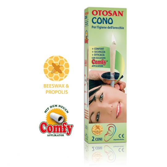 Ear candles by Otosan® medical device with propolis for ear hygiene against earache