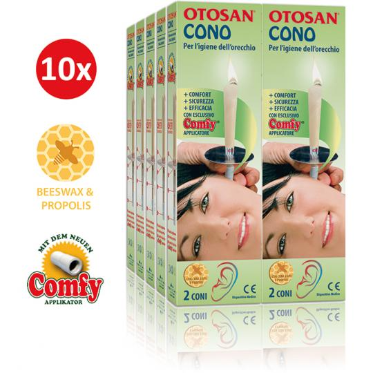 Otosan® Ear Candles With Propolis Ear Hygiene Medical Device Set of 10