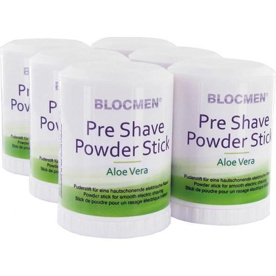 Pre-Shave Powder Stick BLOCMEN© Aloe Vera 6 Pcs