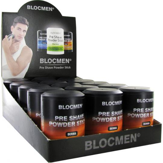 Pre-Shave Powder Stick BLOCMEN© Derma 15 pcs