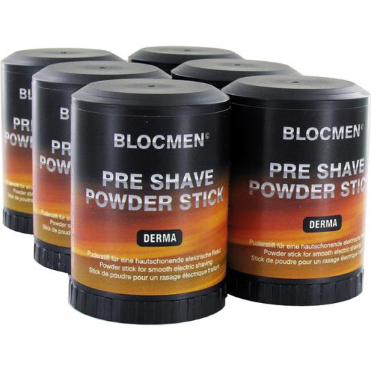 Pre-Shave Powder Stick BLOCMEN© Derma 6 Pcs