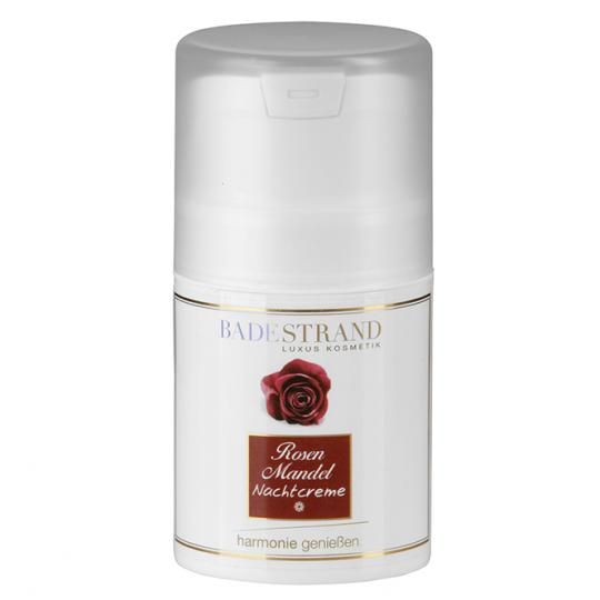 Rose Almond Night Cream Ideal Care in Regenerative Hours by Badestrand