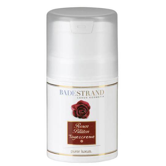 Rose Blossom Day Cream by Badestrand has a pleasant soothing effect on the skin and results in a beautiful complexion