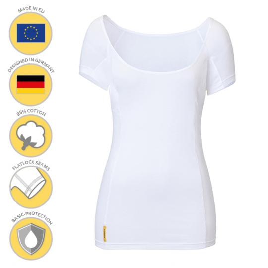MANJANA® Women U-Modern Shirt With Integrated, Underarm Protection