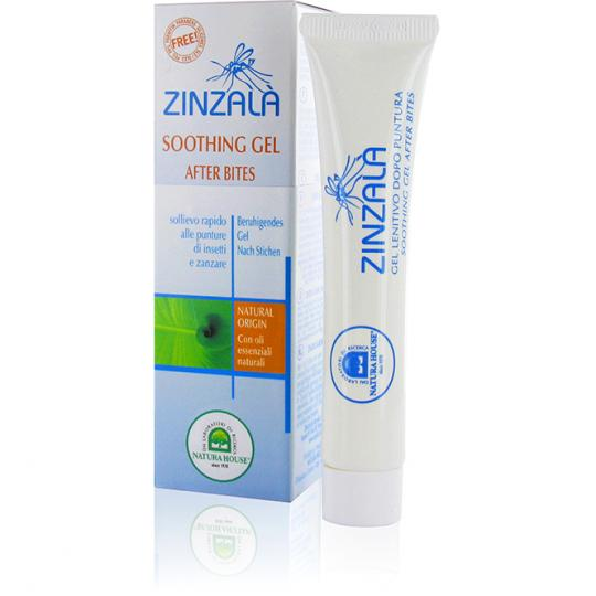 Soothing gel against mosquito bites by Zinzalà® for use on insect bites and mosquito bites