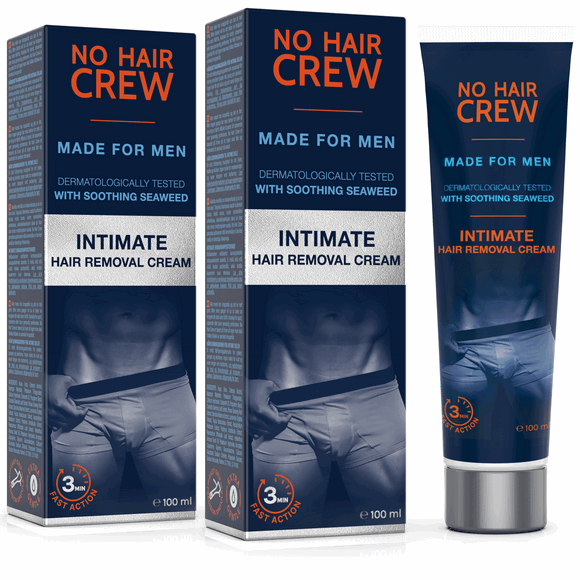 No Hair Crew Intimate Hair Removal Cream For Men Set Of 2
